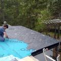 tejado de pizarra con tela de seguridad