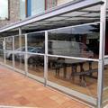 Terraza de hostelería en Villaviciosa (Asturias)