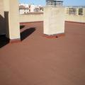 terraza de pizarra, terminada con loseta asfáltica para hacerla transitable