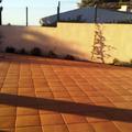 Terraza en pavimento de terracota natural