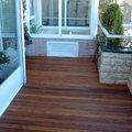 Terraza, tarima y sauna