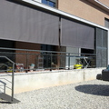 Toldo vertical con cable