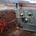 Trabajos de subterrar lineas de alta tension para AVE