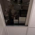Unidad evapaporadora en techo de baño