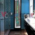 vidriera baño turquesa