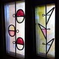 Vidrieras interiores y exteriores con diseños personalizados.