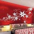 Vinilos decorativos en dormitorio