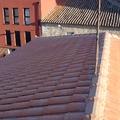 Vista parcial del tejado terminado