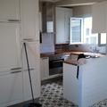 vistas de la entrada en la cocina