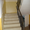 Zocalo de melamina en escaleras