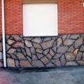 zocalo de piedra natural rejuntada