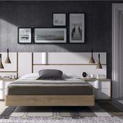 Dormitorio Chapa Olmo y Lacado Blanco