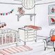 Alzado habitación Bebé