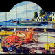 Bodegón de pescados y mariscos en barca
