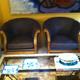Butacas doradas tapizadas estilo Imperio