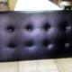 Cabecero de cama tapizado en semi piel negro