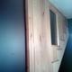 Cambio de baranda por panel de madera y vidrio