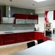 cocina alto brillo roja