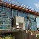 Casa cristal en construcción