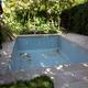 Coronación de piscina de piedra artificial