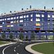 Infografía 3D de fachada de viviendas unifamiliares