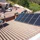 Instalación inclinada sobre tejado inclinado para optimizar orientación