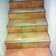 Escalera con gres y madera