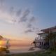 Diseño 3D vivienda familiar a pie de playa estilo minimalista natural.