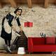 Fotomural con la famosa obra de Banksy