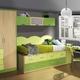 Habitación color haya, pistacho y verde
