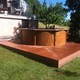 Tarima tecnológica piscina redonda