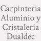 Logo Carpinteria  Aluminio y  Cristaleria  Dualdec_276251