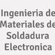 Logo Ingenieria de Materiales de Soldadura Electronica_163362