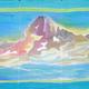 Pañuelo de seda 150x45 cm. Montaña