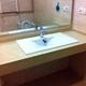 microcemento sobre encimera de lavabo