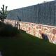 Muros revestidos de piedra terminados