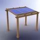 Diseño Pérgola para bombeo de piscina PergoPool de Prosolux