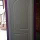 puerta curva lacada
