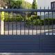 Puerta de corredera de aluminio soldado