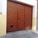 Puerta Seccional Mod. Imitacion Madera Clara