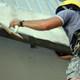 Reparacion del dintel en el balcon