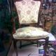 sillón brazos madera en damasco