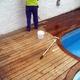 Tarima de piscina de teka