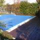 Tarima tropical en piscina
