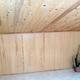 Techo de madera y armarios