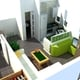 Distribución de apartamento de estilo abierto