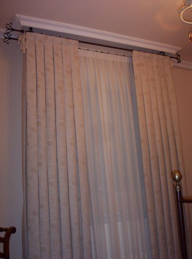 cortinas y visillo en barra