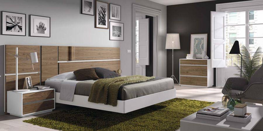 Dormitorio Nogal Americano y Lacado