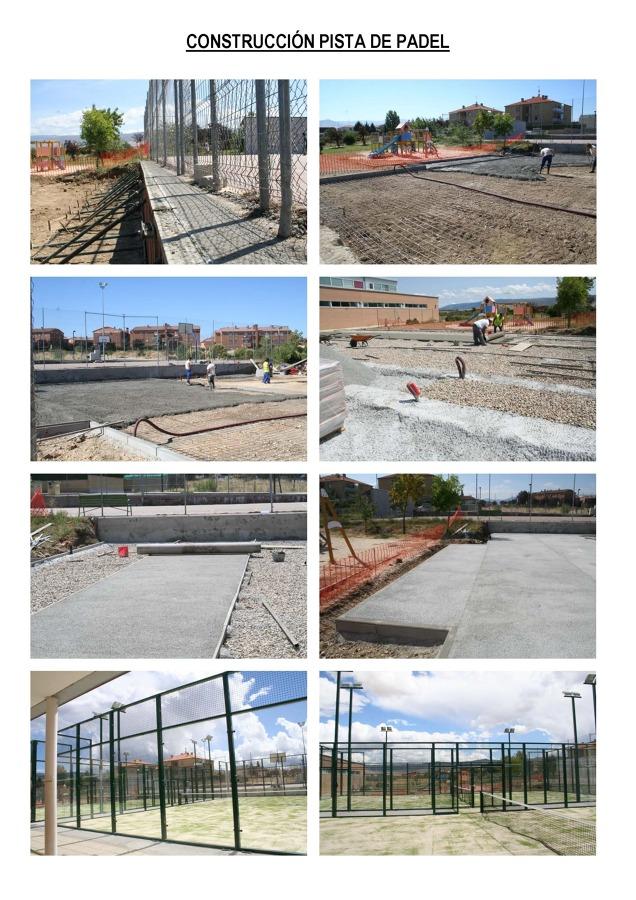Foto construcci n de pistas de padel de aridos coloreados for Pistas de padel malaga