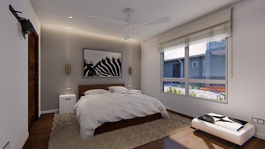 Diseño vivienda Mirarmar habitación principal